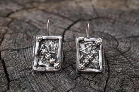 Fused Silver Earrings